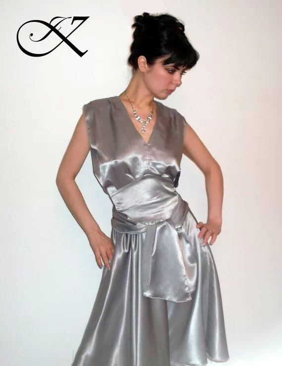 Jennifer Kaya fashion design: silver dress