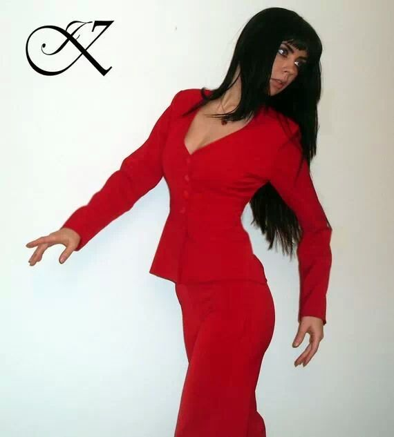 Jennifer Kaya fashion design:  red suit