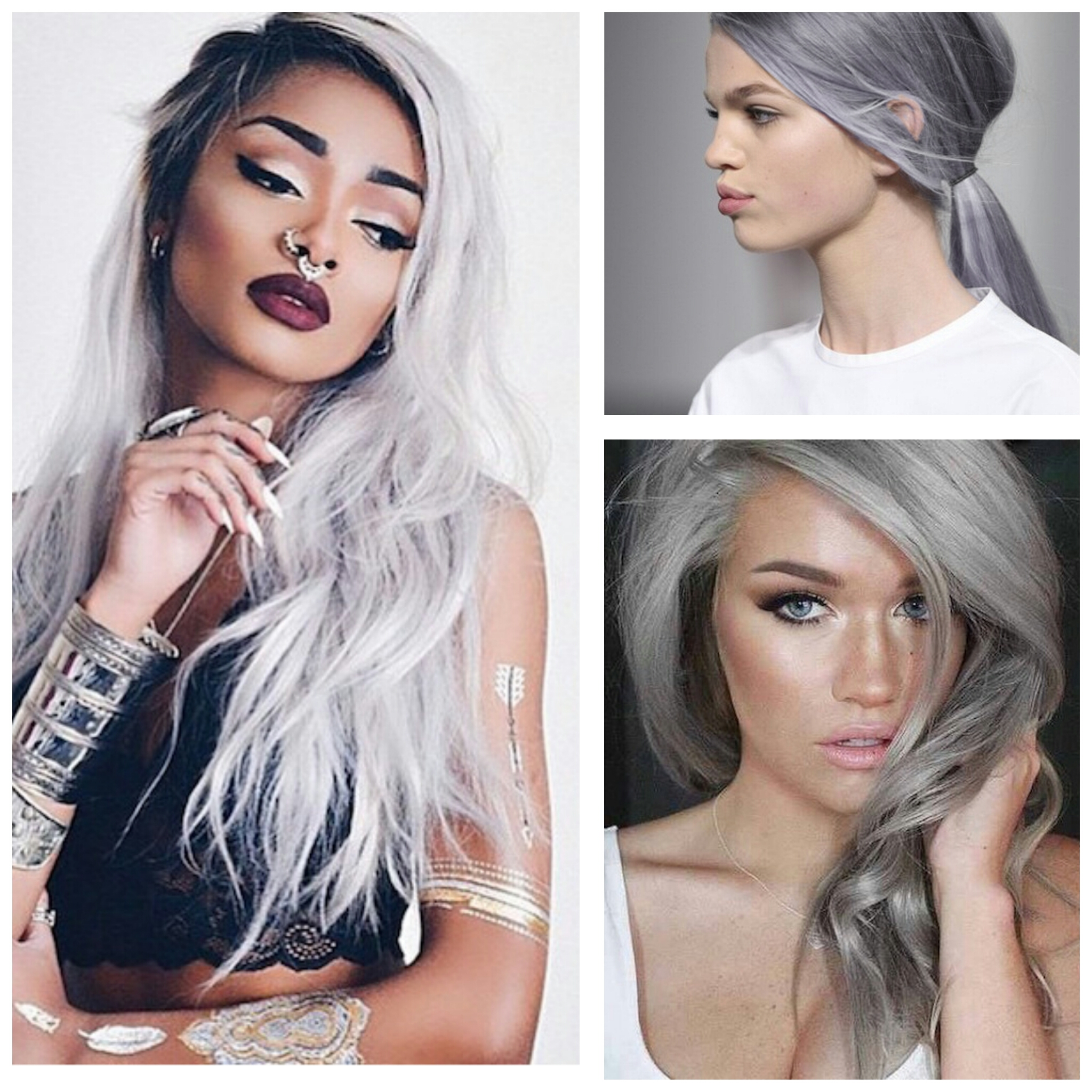 Hottest Beauty Trend Gray Hair Affordable Online Fashion