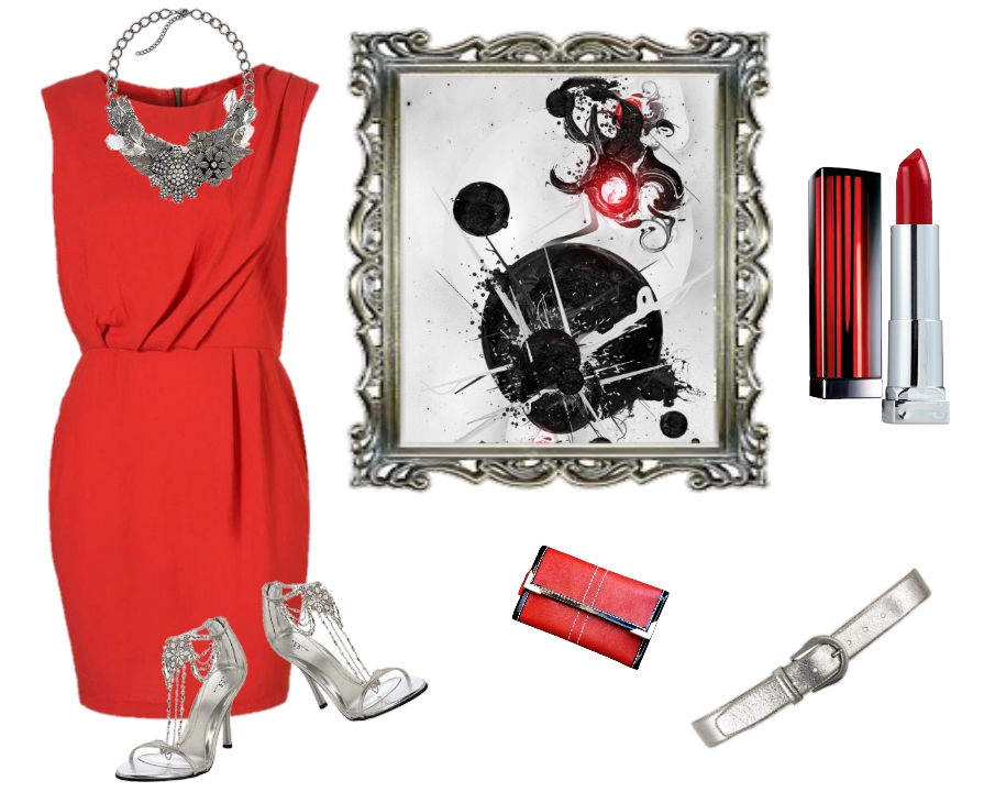 Jennifer Kaya fashionlogger, red dress with red JK Wallet
