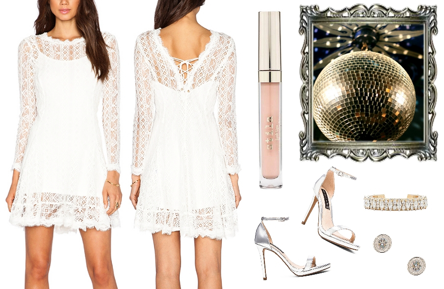 Night Out Outfit Idea / Romantic Style / white lace dress
