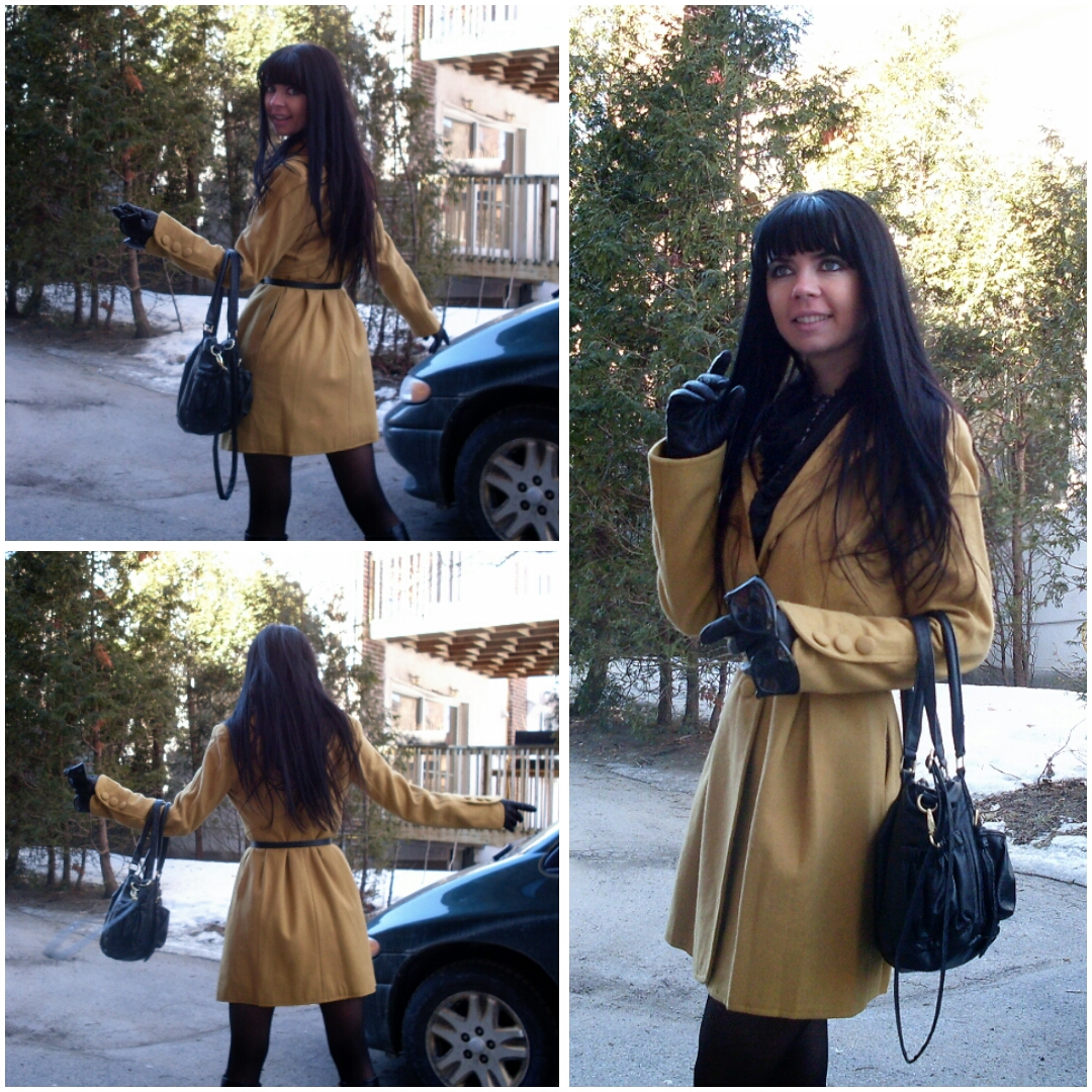 Kayajenn Jennifer Kaya Canadian fashion blogger and Montreal vlogger, youtuber, coat