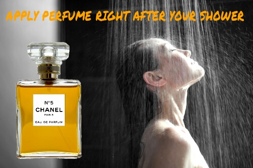 How to make perfume Parfum last long all day apply perfume Parfum after the shower