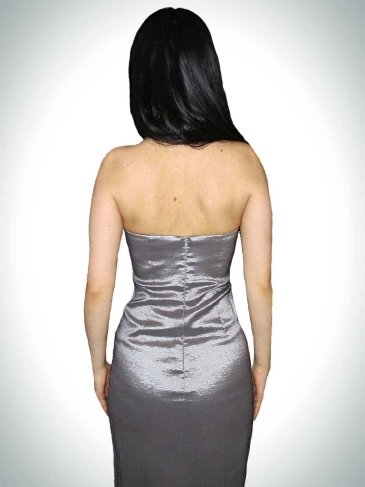 Corrego Kitchen Faucet Silver Strapless Cocktail Dress Gorgeous Short Strapless