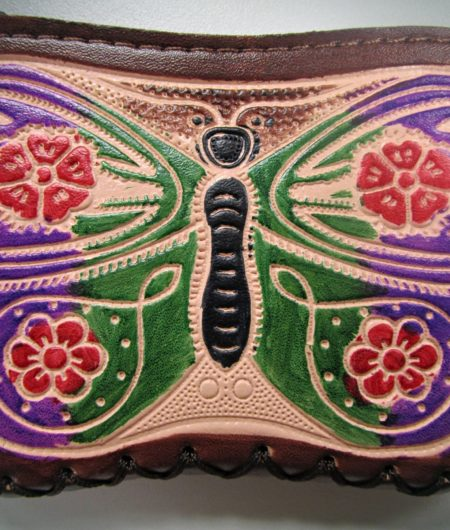 Wallet With Butterfly Art