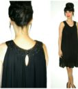 black loose fit sleeveless dress with