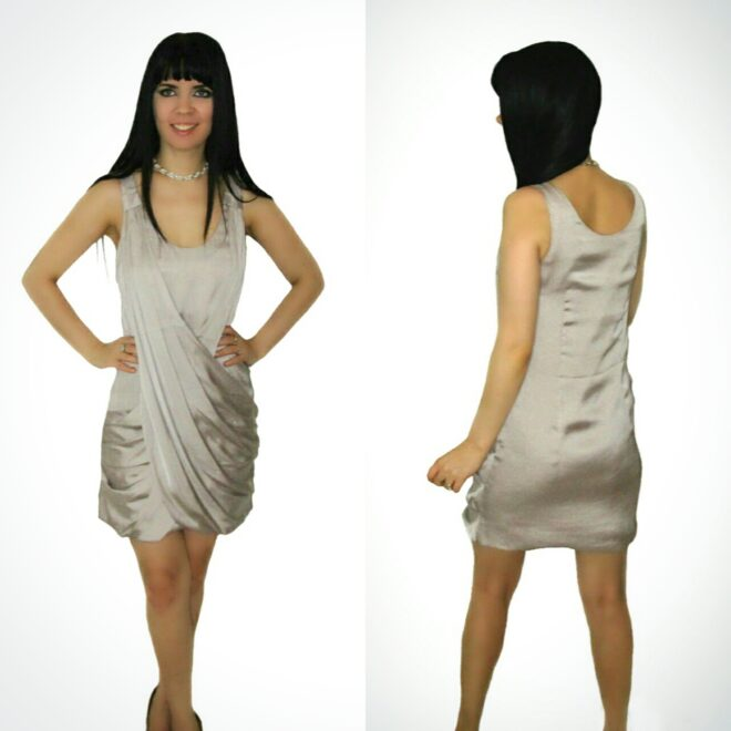 Semi-fitted Cocktail Dress Grey - Affordable Online Fashion, Dresses ...