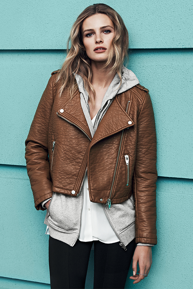 e246f5ae8ae Brown Biker Jacket Made of Faux Leather – Affordable Online Fashion ...